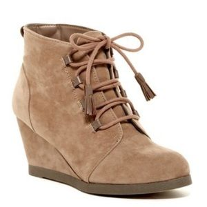 Madden Girl Deenaa Wedge Ankle Boots